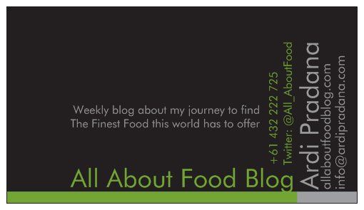 All About Food Card